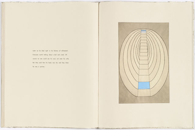 Louise Bourgeois. Plate 8 of 8 from the illustrated book the puritan, 1990. Engraving, with hand additions. Page: 26 x 19 7/8 in (66 x 50.5 cm). The Museum of Modern Art, New York. Gift of the artist. © 2017 The Easton Foundation/Licensed by VAGA, NY.