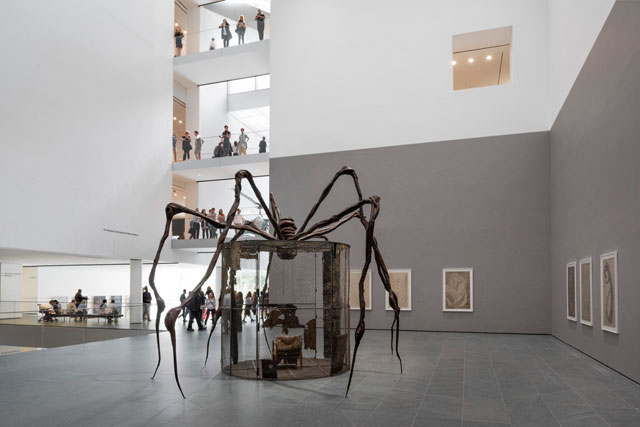 Installation view of Louise Bourgeois: An Unfolding Portrait. The Museum of Modern Art, New York, September 24, 2017–January 28, 2018. Photograph:Martin Seck for the Museum of Modern Art © 2017 The Easton Foundation/Licensed by VAGA, NY.
