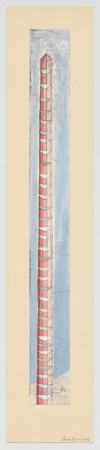 Louise Bourgeois. The Sky's the Limit, 1989–2003. Etching, with hand additions. Mount: 41 1/2 × 8 1/4 in (105.4 × 21 cm). The Museum of Modern Art, New York. Gift of The Easton Foundation. © 2017 The Easton Foundation/Licensed by VAGA, NY.