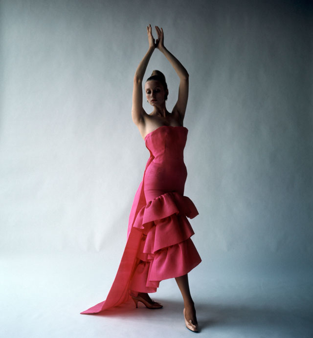 Flamenco-style evening dress, Cristóbal Balenciaga, Paris, 1961. Photograph by Cecil Beaton, 1971 © Cecil Beaton Studio Archive at Sotheby's.