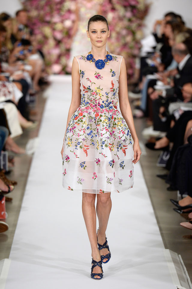 Oscar de la Renta, Spring Summer 2015 ready-to-wear, look 37 © Catwalking.