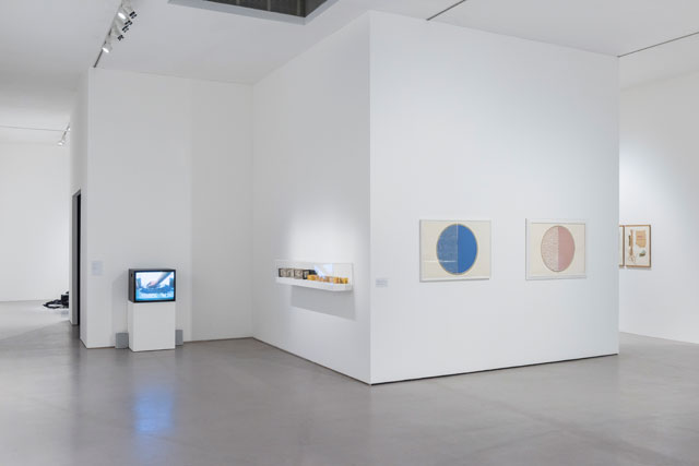 Installation view of Geta Brătescu: The Studio: A Tireless, Ongoing Space at Camden Arts Centre, 2017. Photograph: Damian Griffiths. Courtesy Camden Arts Centre.