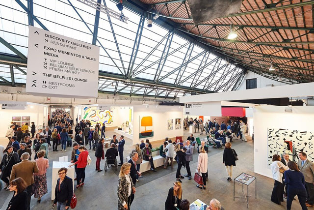 Art Brussels, 21–23 April 2017, Tour and Taxis. Photograph: David Plas.