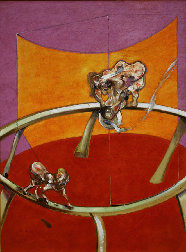Francis Bacon. After Muybridge - Woman Emptying a Bowl of Water and Paralytic Child on All Fours, 1965. Oil paint on canvas, 198.5 x 147.5 cm. Collection Stedelijk Museum Amsterdam. © The Estate of Francis Bacon. All rights reserved. DACS 2016.