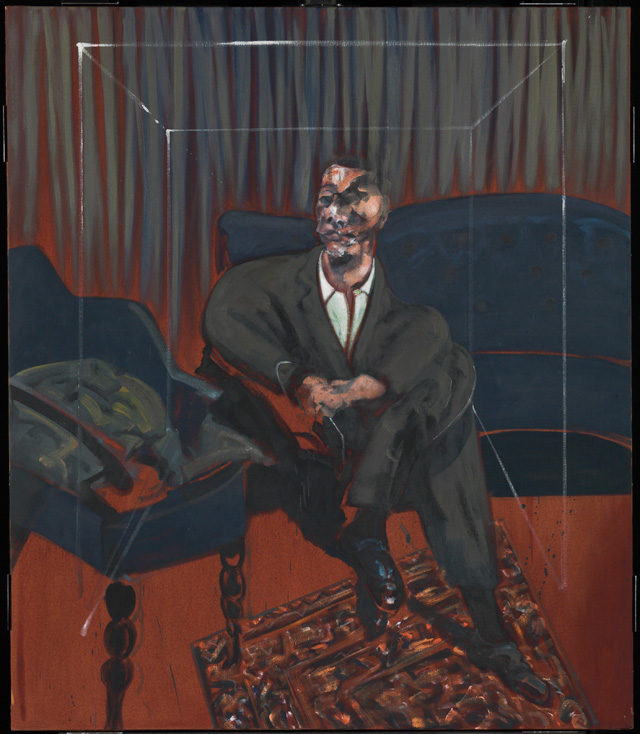 Francis Bacon. Seated Figure, 1961. Oil paint on canvas, 165.1 x 142.2 cm. © The Estate of Francis Bacon. Image courtesy Tate.