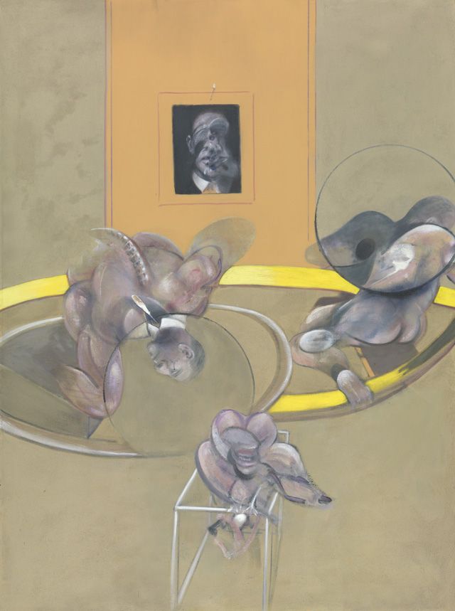 Francis Bacon. Three Figures and Portrait, 1975. Oil paint and pastel on canvas, 198.1 x 147.3 cm. © The Estate of Francis Bacon. All rights reserved. DACS 2016. Image courtesy Tate.