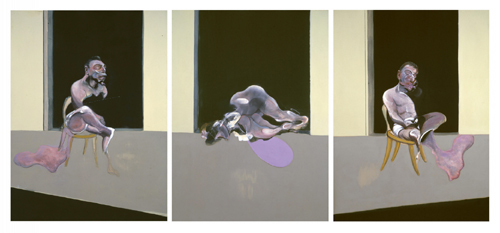Francis Bacon. <em>Triptych – August 1972</em>, 1972. Oil on canvas, each:  2175 x 1668 x 102 mm painting. Tate © Estate of Francis Bacon. All Rights Reserved, DACS 2007