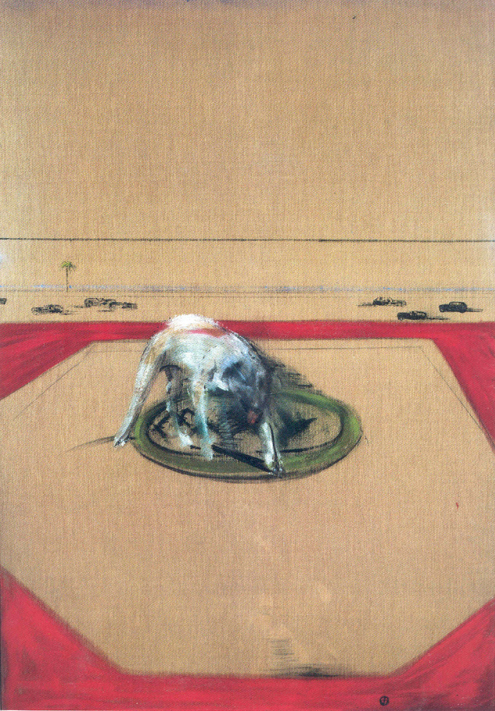 Francis Bacon. <em>Study of a Dog</em>, 1952. Oil on canvas, 2185 x 1580 x 118 mm © Tate