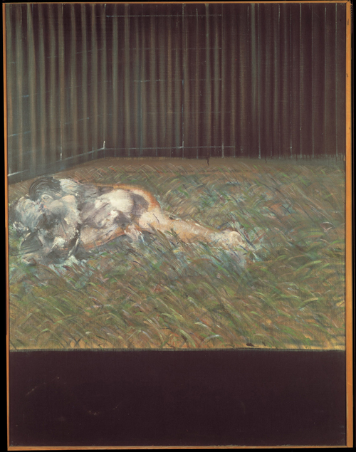 Francis Bacon. <em>Two Figures in the Grass</em>, 1954. Oil on canvas, 1520 x 1170 mm. Private Collection © Estate of Francis Bacon. All Rights Reserved, DACS 2008