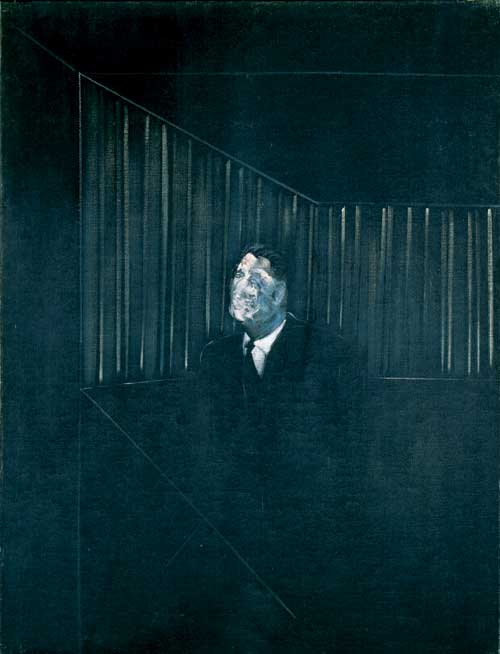<i>Man in Blue VII</i>, 1954. Oil on canvas, 152.5 x 117. Private collection, 