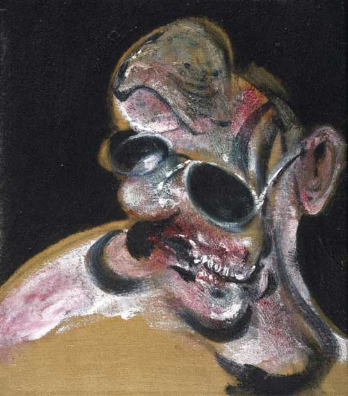 <i>Portrait of Man with Glasses III</i>, 1963. Oil on canvas, 33.7 x 