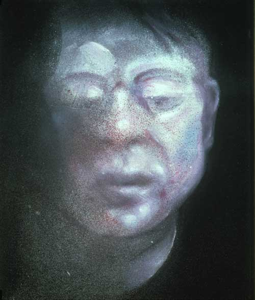 <i>Self-Portrait</i>, 1987. Oil on canvas, 35.5 x 30.5 cm. Private collection, 
