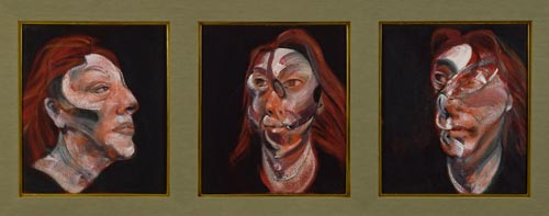 Francis Bacon.<em> Three Studies for a Portrait of Isabel Rawsthorne,</em> 1965. Oil on canvas 35.6 x 30.5cm each. Robert and Lisa Sainsbury Collection.