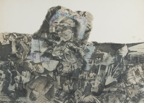 Vagrich Bakhchanyan. Untitled, 1969. Transfer process on paper. Zimmerli Art Museum at Rutgers. Norton and Nancy Dodge Collection of Nonconformist Art from the Soviet Union. Photograph: Alexei Zagdansky/AZFilms.