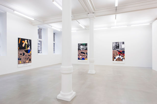 John Baldessari: Miró and Life in General, installation view, Marian Goodman Gallery, London, 2016. © John Baldessari, courtesy of the artist and Marian Goodman Gallery. Photograph: Thierry Bal.