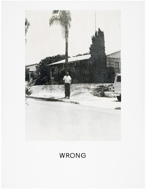 John Baldessari. <em>Wrong</em>, 1966