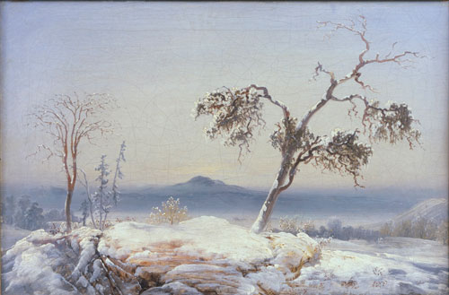 Peder Balke. Finnmark Landscape, c1860. Oil on canvas, 34.9 x 52 cm. Collection of Asbjørn Lunde, New York. © Photograph courtesy of the owner.