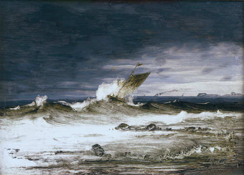 Peder Balke. Seascape, c1860. Oil on canvas, 16.8 x 23.2 cm. Collection of Asbjørn Lunde, New York. © Photograph courtesy of the owner.