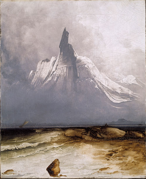 Peder Balke. Mount Stetind in Fog, 1864. Oil on canvas, 71 × 58 cm. The National Museum of Art, Architecture and Design, Oslo. © The National Museum of Art, Architecture and Design, Oslo. Photograph: Jacques Lathion.