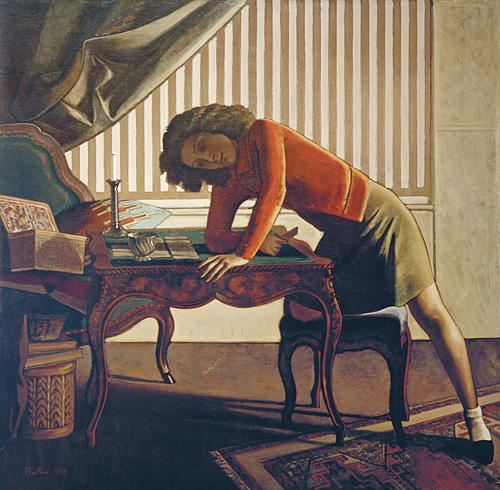 Balthus. La patience (solitaire), 1943. Oil on canvas, 161.3 x 165.1 cm. The Art Institute of Chicago, Joseph Winterbotham Collection © Balthus © MONDADORI PORTFOLIO/Akg Images.