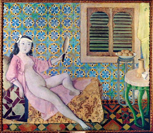 Balthus. La Chambre turque, 1963-1966. Casein and tempera on canvas, 180 x 210 cm. Paris, Centre Pompidou Musée national d'Art modérne. © Balthus © MONDADORI PORTFOLIO/Leemage/Photograph: Josse.
