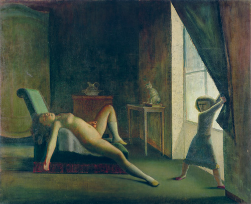 Balthus. La Chambre, 1952-1954. Oil on canvas, 270.5 x 335 cm. Private collection © Balthus © MONDADORI PORTFOLIO/Bridgeman Images.