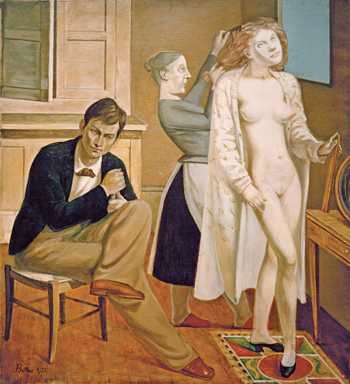 Balthus. La Toilette de Cathy, 1933. Oil on canvas, 165 x 150 cm. Centre Pompidou Musée national d'Art modérne © Balthus © MONDADORI PORTFOLIO/AKG Images.