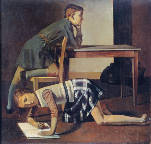 Balthus. Les Enfants Blanchard, 1937. Oil on canvas, 125 x 130 cm. Musée national Picasso, © Balthus © MONDADORI PORTFOLIO/Leemage/Paris, Musée Picasso/Photograph: Josse.