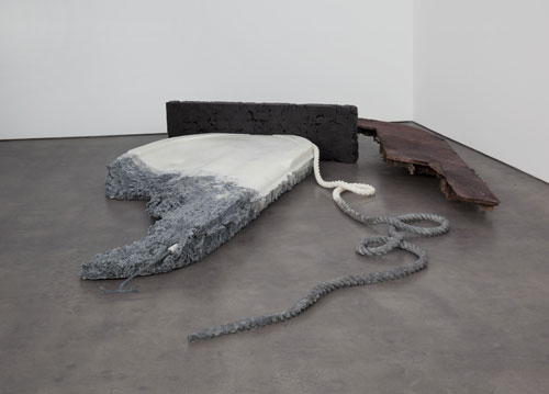 Matthew Barney. River of Fundament. Secret Name, 2008-2011. Cast polycaprolactone, lead, copper and zinc. Courtesy of the artist and Gladstone Gallery, New York and Brussels. Installation view Haus der Kunst, 2014. Photograph: Maximilian Geuter