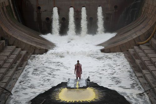 Matthew Barney and Jonathan Bepler. River of Fundament, 2014. Production still (2). Photograph: Hugo Glendinning. © Matthew Barney. Courtesy Gladstone Gallery, New York and Brussels.