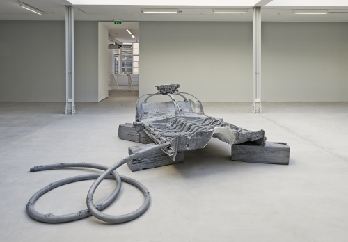 Matthew Barney. Crown Victoria, 2013. Cast zinc, 60 × 80 × 200 in. Courtesy Laurenz Foundation, Schaulager, Basel, installation view of Matthew Barney: Crown Zinc at Sadie Coles HQ, London, 2014, courtesy of Sadie Coles HQ, London. Photograph: Prudence Cuming, London.