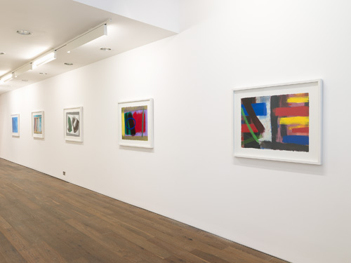 Wilhelmina Barns-Graham. Art First installation view 1 – showing works including: Scorpio Series 3, No. 2 & Inside Outside No. 2. Courtesy of Art First.