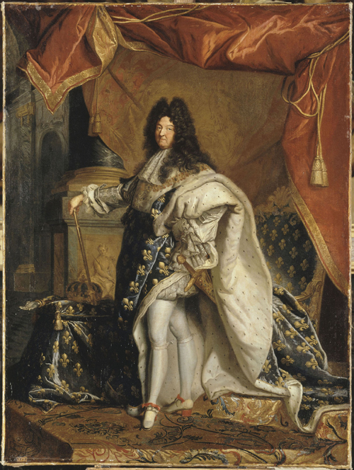 Portrait of Louis XIV, After Hyacinthe Rigaud, Paris, about 1701. © RMN/Gérard Blot