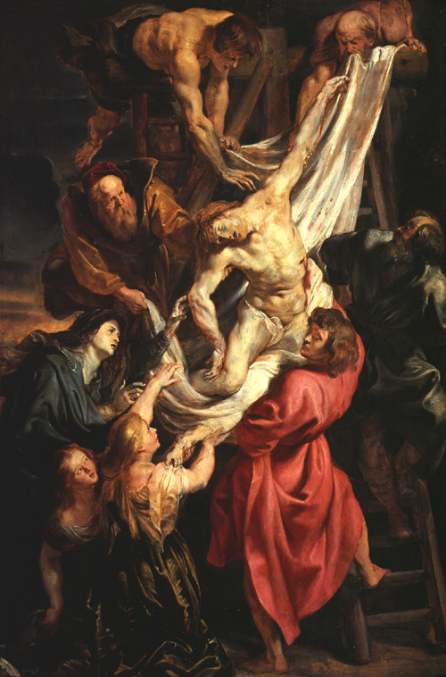 Peter Paul Rubens. <em>The Descent from the Cross</em> (centre panel of triptych), Antwerp, 1611. © The Samuel Courtauld Trust, The Courtauld Gallery, London.