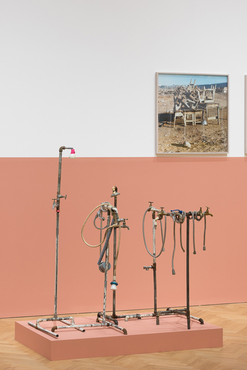 Yto Barrada. Plumber Assemblage, 2015, mixed media, unique. Photograph: © Yto Barrada, Courtesy Pace London.