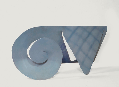 Barry Flanagan. <em>VII 78 moon thatch,</em> 1978. Painted mild steel, 44 x 96 x 43 cm. British Council