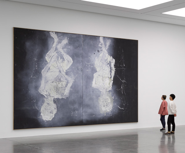 Georg Baselitz, Wir fahren aus – We're off, White Cube Bermondsey, London. © Georg Baselitz. Photograph © White Cube (Ben Westoby).