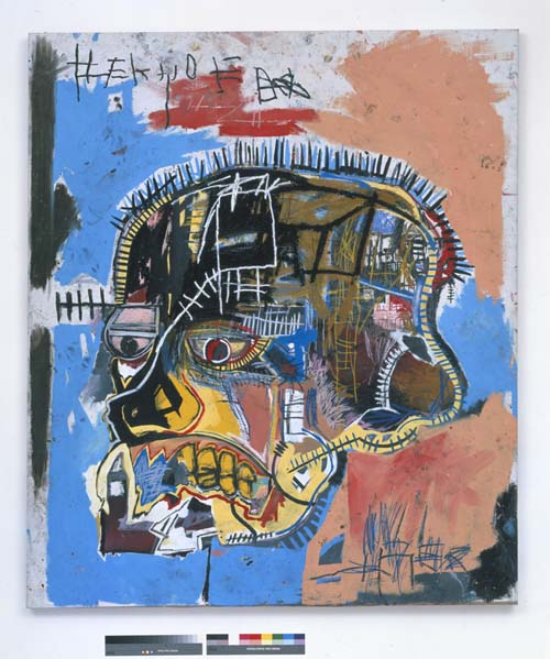 Jean-Michel Basquiat, Untitled (Head 1981. Acrylic and mixed media on canvas 81 x 69 1/4 in. (205.7 x 175.9 cm). The Eli and Edythe