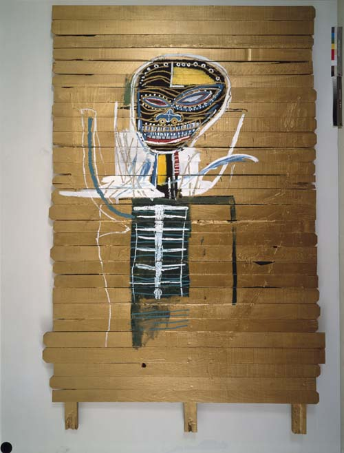 Jean-Michel Basquiat, <i>Gold Griot</i> 1984. Oil and oil paintstick 