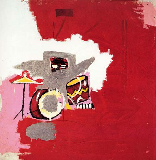 Jean-Michel Basquiat, Max Roach 1984. Acrylic and oil paintstick on canvas 60 x 60 in. (152.4 x 152.4 cm)