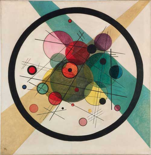 Wassily Kandinsky. Circles in a Circle, 1923. Oil on canvas. Philadelphia Museum of Art, The Louise and Walter Arensberg Collection, 1950.