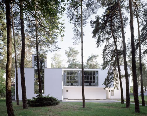 House Klee/Kandinsky in Dessau, 1925. Architect: Walter Gropius. Photograph: Hans Engels