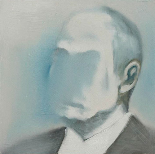 Bartosz Beda. Ras(Putin) III, 2014. Oil on wood panel, 30 x 30 cm. © Bartosz Beda.