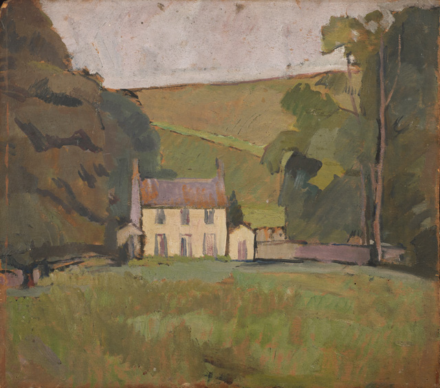 Vanessa Bell. Asheham House, 1912. Oil on board, 47 x 53.5 cm. Private collection. © The Estate of Vanessa Bell, courtesy of Henrietta Garnett.