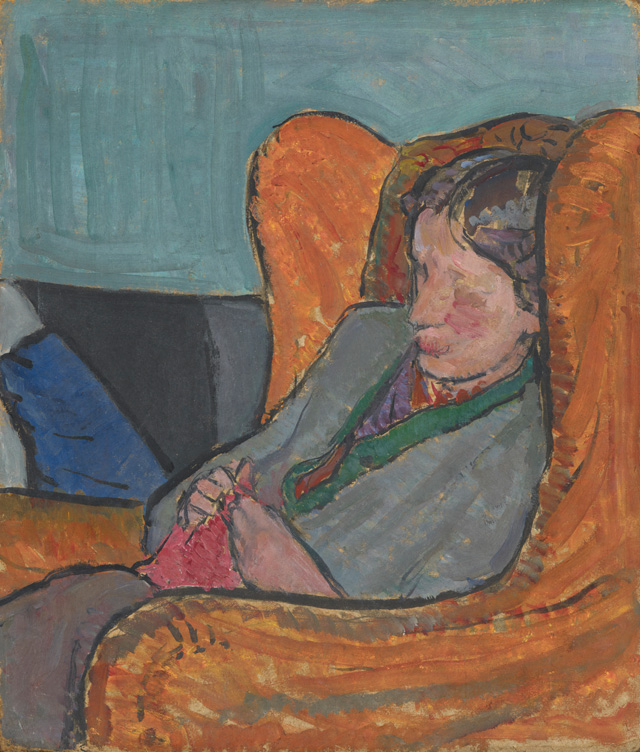 Virginia Woolf, by Vanessa Bell (née Stephen), 1912. Oil on board, 40 x 34 cm. © National Portrait Gallery, London