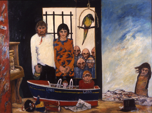 John Bellany. <em>The Bellany Family</em> 1968. 183 x 244 cm, oil on board. Perth & Kinross District Council, Museum and Art Gallery Department, Scotland.