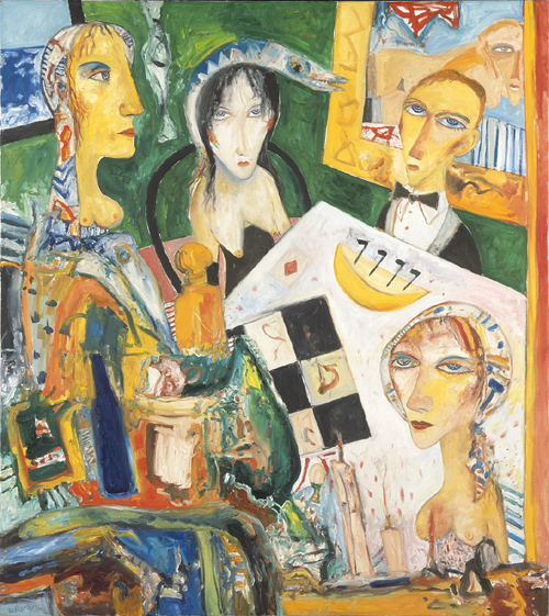 John Bellany. <em>The Gamblers </em>1996. 173 x 153 cm, oil on canvas. Artist's Collection.