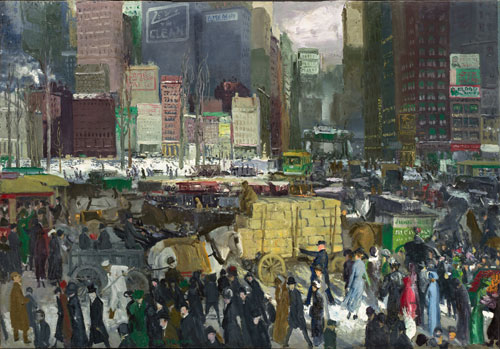 George Bellows. New York, 1911. Oil on canvas, 106.7 x 152.4 cm. National Gallery of Art, Washington, Collection of Mr. and Mrs. Paul Mellon. Image courtesy of the Board of Trustees, National Gallery of Art, Washington. Photograph: Greg Williams.