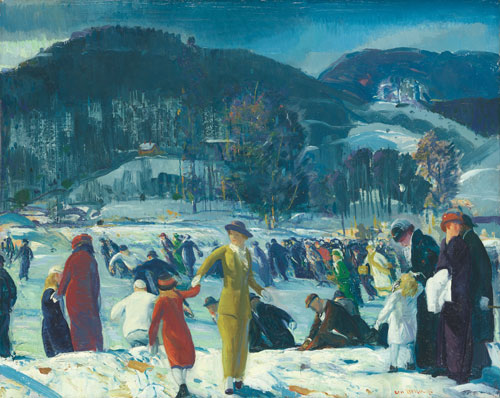 George Bellows. Love of Winter, 1914. Oil on canvas, 82.6 x 102.9 cm. The Art Institute of Chicago, Friends of American Art Collection. Photography © The Art Institute of Chicago.