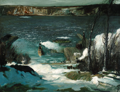 George Bellows. North River, 1908. Oil on canvas , 83.5 x 109.2 cm. Courtesy of the Pennsylvania Academy of the Fine Arts, Philadelphia, Joseph E. Temple Fund.